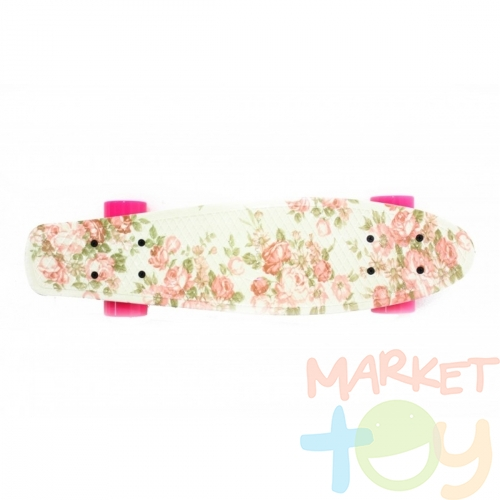Скейтборд Cruiser 22 Design Flowers